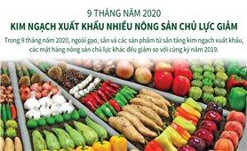 Kim ngạch xuất khẩu nhiều nông sản chủ lực giảm trong 9 tháng năm 2020