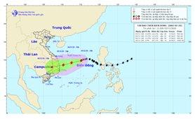 Cường độ và hướng di chuyển bão số 10 chịu chi phối của ngoại lực nên thay đổi nhanh, khó dự báo
