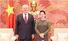 Chủ tịch Quốc hội Nguyễn Thị Kim Ngân tiếp Đại sứ Liên bang Nga và Cuba