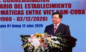Mít tinh Kỷ niệm 60 năm thiết lập quan hệ ngoại giao Việt Nam - Cuba