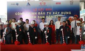 Lễ cất nóc công trình đầu tư xây dựng Khách sạn Dân tộc