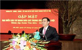 Lãnh đạo TP. Hà Nội gặp mặt đại biểu các cơ quan báo chí