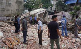 Lào Cai: Nhà 3 tầng sập đổ trong đêm