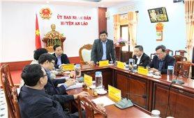 Thứ trưởng, Phó Chủ nhiệm Y Thông: Thăm và làm việc tại huyện An Lão