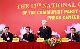 Tổng Bí thư, Chủ tịch nước chủ trì họp báo sau phiên bế mạc Đại hội XIII