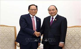 Thủ tướng Nguyễn Xuân Phúc tiếp Hiệp hội doanh nghiệp Hàn Quốc tại Việt Nam