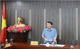 Bộ trưởng, Chủ nhiệm UBDT Hầu A Lềnh làm việc với Văn phòng Điều phối Chương trình MTQG