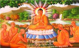 Sắc màu tranh Phật chùa Khmer