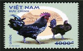 Phát hành bộ tem bưu chính ''Gà bản địa Việt Nam''