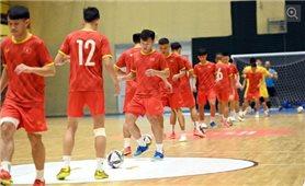 Đội tuyển futsal Việt Nam sẵn sàng với thử thách mang tên tuyển Brazil