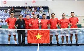 Đội tuyển quần vợt Việt Nam giành quyền thăng hạng Davis Cup
