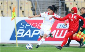 Đội tuyển nữ Việt Nam thắng Maldives 16-0 trong ngày ra quân