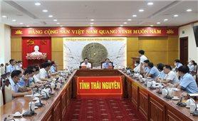 Bộ trưởng, Chủ nhiệm Hầu A Lềnh làm việc với UBND tỉnh Thái Nguyên