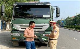 Thái Nguyên: Tăng cường kiểm soát xe trọng tải lớn vào thành phố