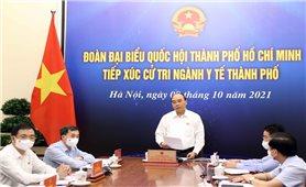 Chủ tịch nước Nguyễn Xuân Phúc tiếp xúc cử tri ngành y tế TP.HCM