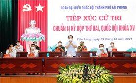 Chủ tịch Quốc hội Vương Đình Huệ tiếp xúc cử tri huyện Tiên Lãng, TP. Hải Phòng
