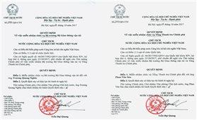 Chủ tịch nước Trần Đại Quang ký Quyết định miễn nhiệm; bổ nhiệm 2 thành viên Chính phủ