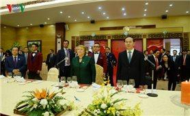 Chủ tịch nước Trần Đại Quang chủ trì Quốc yến chào mừng Tổng thống Chile