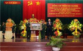 Chủ tịch nước Trần Đại Quang thăm và làm việc với Lực lượng vũ trang Quân khu 1