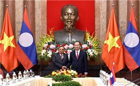 Chủ tịch nước Trần Đại Quang hội kiến với Tổng Bí thư, Chủ tịch nước Lào Bounnhang Vorachith