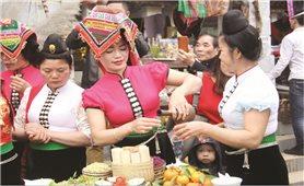 Mâm cỗ đầu năm mới của dân tộc Thái
