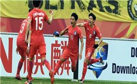 Clip U23 Hàn Quốc vất vả vào bán kết trước U23 Malaysia