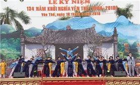 Khai mạc lễ hội kỷ niệm 134 năm khởi nghĩa Yên Thế