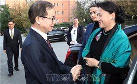 Chủ tịch Quốc hội gặp gỡ cán bộ, nhân viên Đại sứ quán VN tại Thổ Nhĩ Kỳ