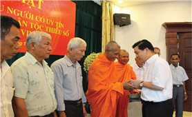 Ủy ban Dân tộc: Gặp mặt Đoàn đại biểu Người có uy tín trong đồng bào DTTS tỉnh Trà Vinh
