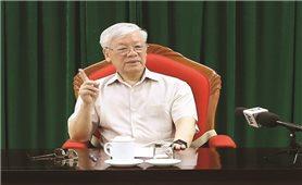 Tổng Bí thư, Chủ tịch nước Nguyễn Phú Trọng chủ trì họp lãnh đạo chủ chốt của Đảng, Nhà nước