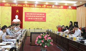 Ủy ban Quốc gia Vì sự tiến bộ của phụ nữ Việt Nam làm việc với tỉnh Hà Giang