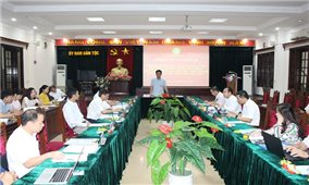 Ủy ban Dân tộc nghiệm thu đề tài khoa khọc