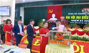 Đảng bộ Phường Hoàng Văn Thụ, TP. Thái Nguyên tổ chức thành công Đại hội