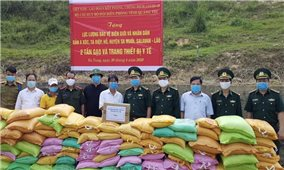 Quảng Trị: Bộ đội Biên phòng tỉnh tặng quà người dân biên giới và nước bạn Lào