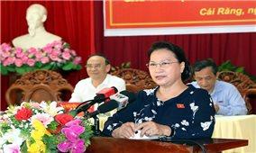 Chủ tịch Quốc hội Nguyễn Thị Kim Ngân tiếp xúc cử tri tại TP. Cần Thơ