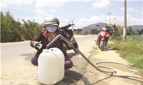 """Bình Định: Nỗ lực giải """"cơn khát"""" nước sinh hoạt cho dân"""