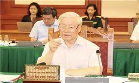 Tổng Bí thư, Chủ tịch nước chủ trì buổi làm việc với Ban Thường vụ Quân ủy Trung ương