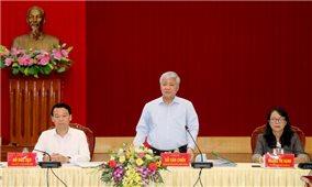 Bộ trưởng, Chủ nhiệm Ủy ban Dân tộc Đỗ Văn Chiến làm việc tại Yên Bái