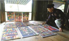 Nghệ nhân người Dao duy nhất ở Tuyên Quang vẽ được tranh thờ