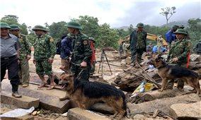 Hàng trăm người đội mưa, lội bùn tìm nạn nhân ở Trà Leng