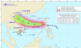 Bão Vamco vào Biển Đông trở thành cơn bão số 13 trong năm