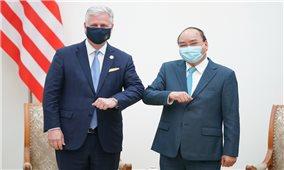Hợp tác thương mại là trọng tâm, động lực chủ yếu trong phát triển quan hệ Việt Nam-Hoa Kỳ