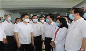 Phó Thủ tướng Vũ Đức Đam kiểm tra công tác phòng, chống dịch bệnh Covid-19 tại Long An