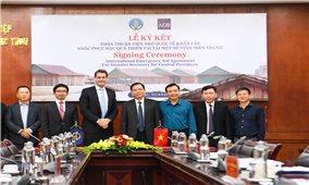 Ký kết Thỏa thuận viện trợ quốc tế khẩn cấp khắc phục hậu quả thiên tai tại một số tỉnh miền Trung