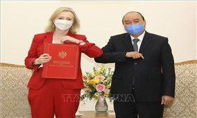 Thủ tướng Nguyễn Xuân Phúc tiếp Bộ trưởng Thương mại Quốc tế Vương quốc Anh