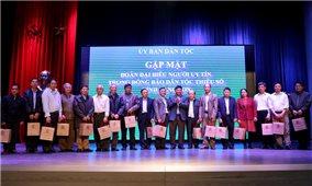 Thứ trưởng, Phó Chủ nhiệm UBDT Y Thông gặp mặt Đoàn đại biểu Người có uy tín tỉnh Lạng Sơn