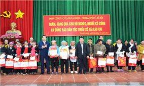Đoàn công tác của Bộ Lao động- Thương binh và Xã hội thăm, chúc Tết tại tỉnh Lào Cai