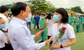 Quảng Ninh: 200 cán bộ, nhân viên y tế lên đường hỗ trợ Bắc Giang phòng chống dịch