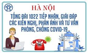 Hà Nội: Mở thêm kênh hỗ trợ người dân bị ảnh hưởng bởi COVID-19 qua tổng đài 1022