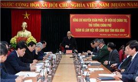 Thủ tướng: Hòa Bình cần phát triển về phía Đông tận dụng thị trường hơn 8 triệu dân